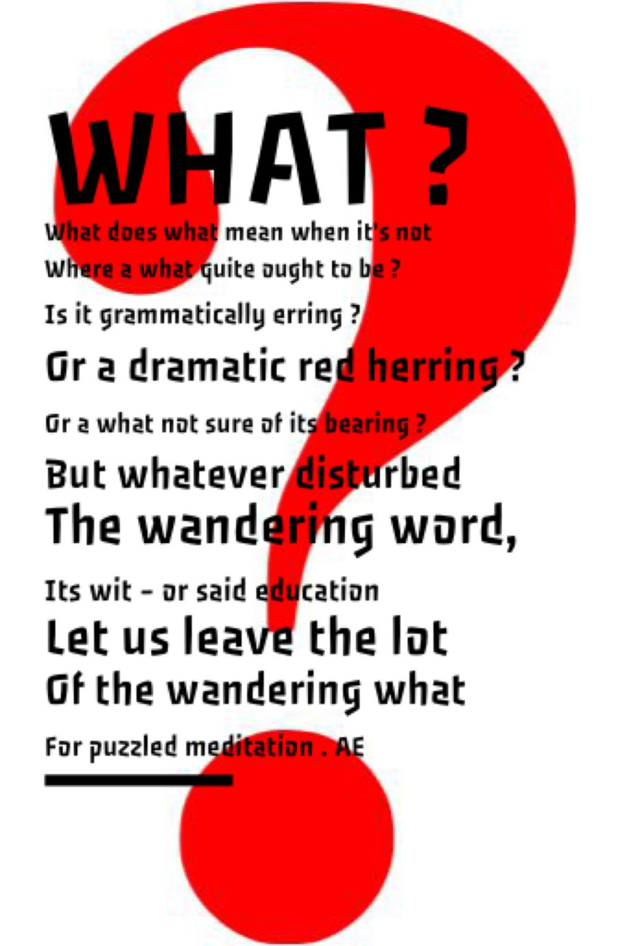 A Nonsense Verse
